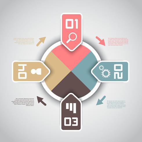 Infografía moderna con opciones de diseño.