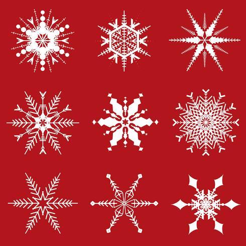 Desenhos de flocos de neve de Natal