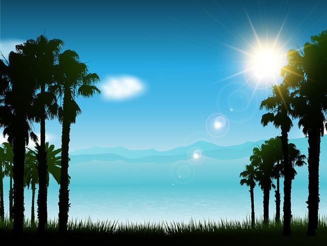 Fondo del paisaje tropical