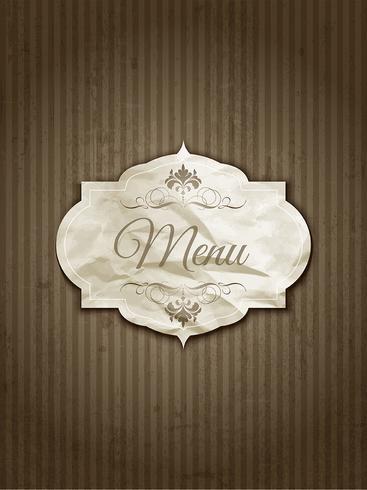 Diseño de menú vintage