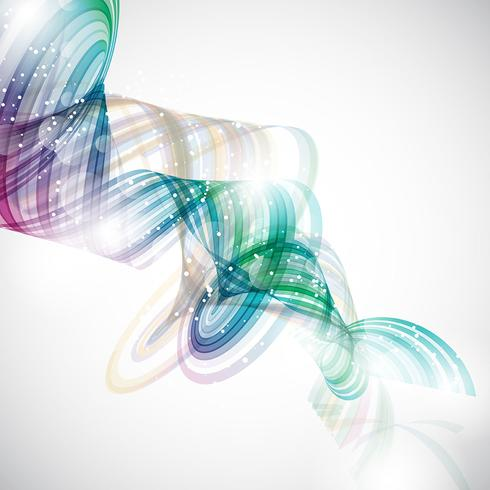 Abstract Swirl Vector Art