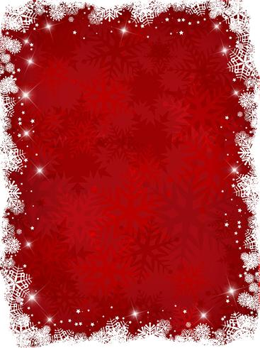 Fundo de floco de neve de Natal