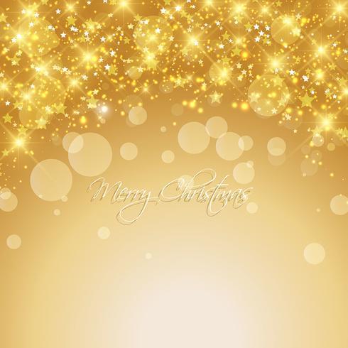 Fondo de navidad dorado
