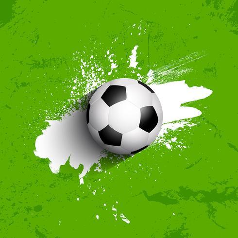 Fundo de bola de futebol / futebol grunge