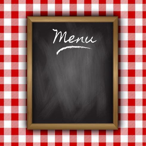 Krijtbord menu ontwerp