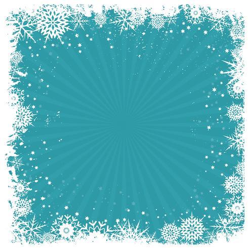 Grunge snowflake background  vector