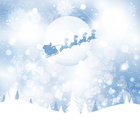 Santa en el cielo