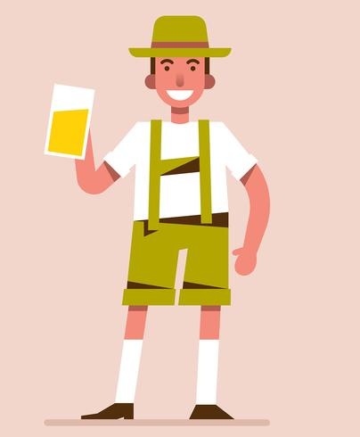 homme en illustration lederhosen