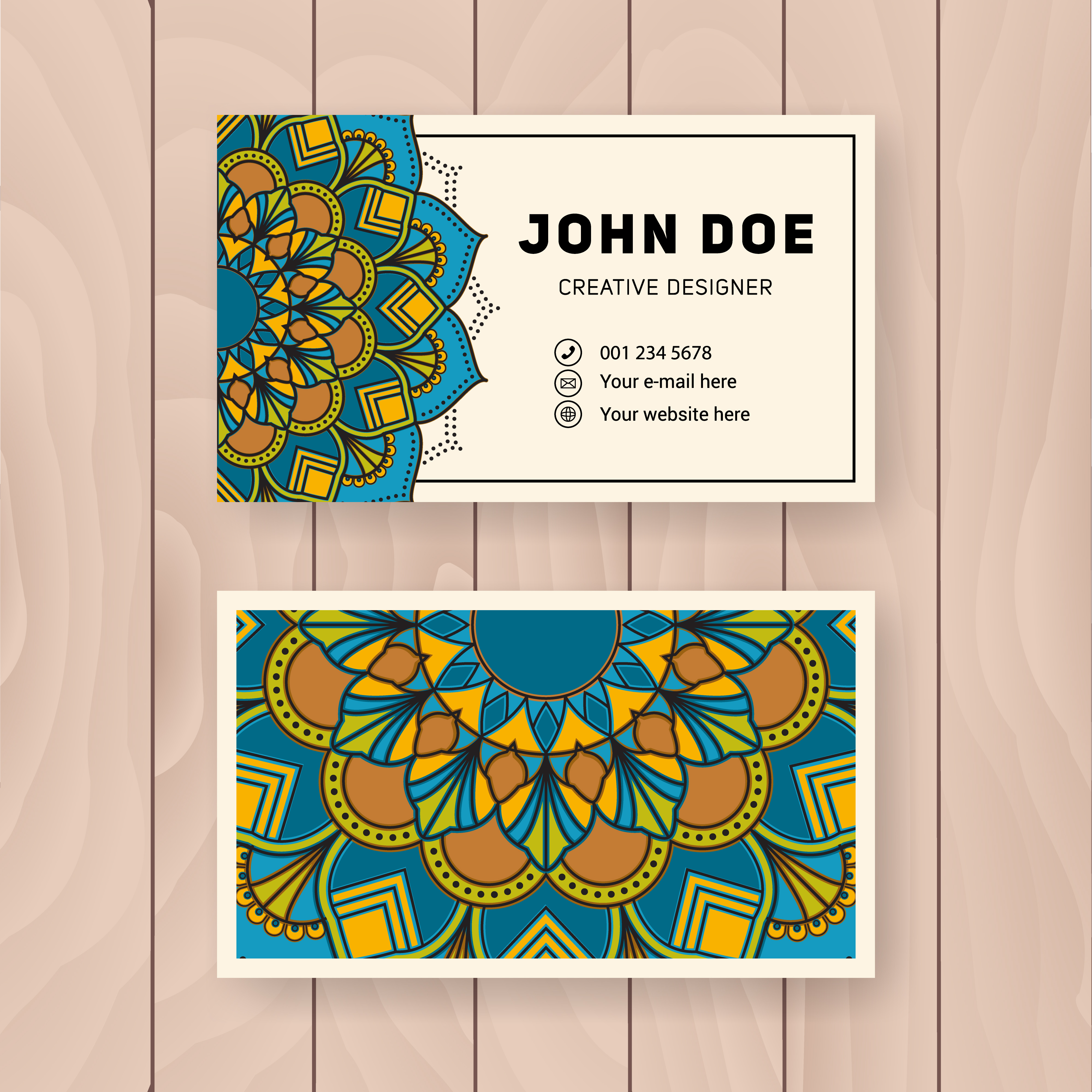 creative useful business name card design vintage colored
