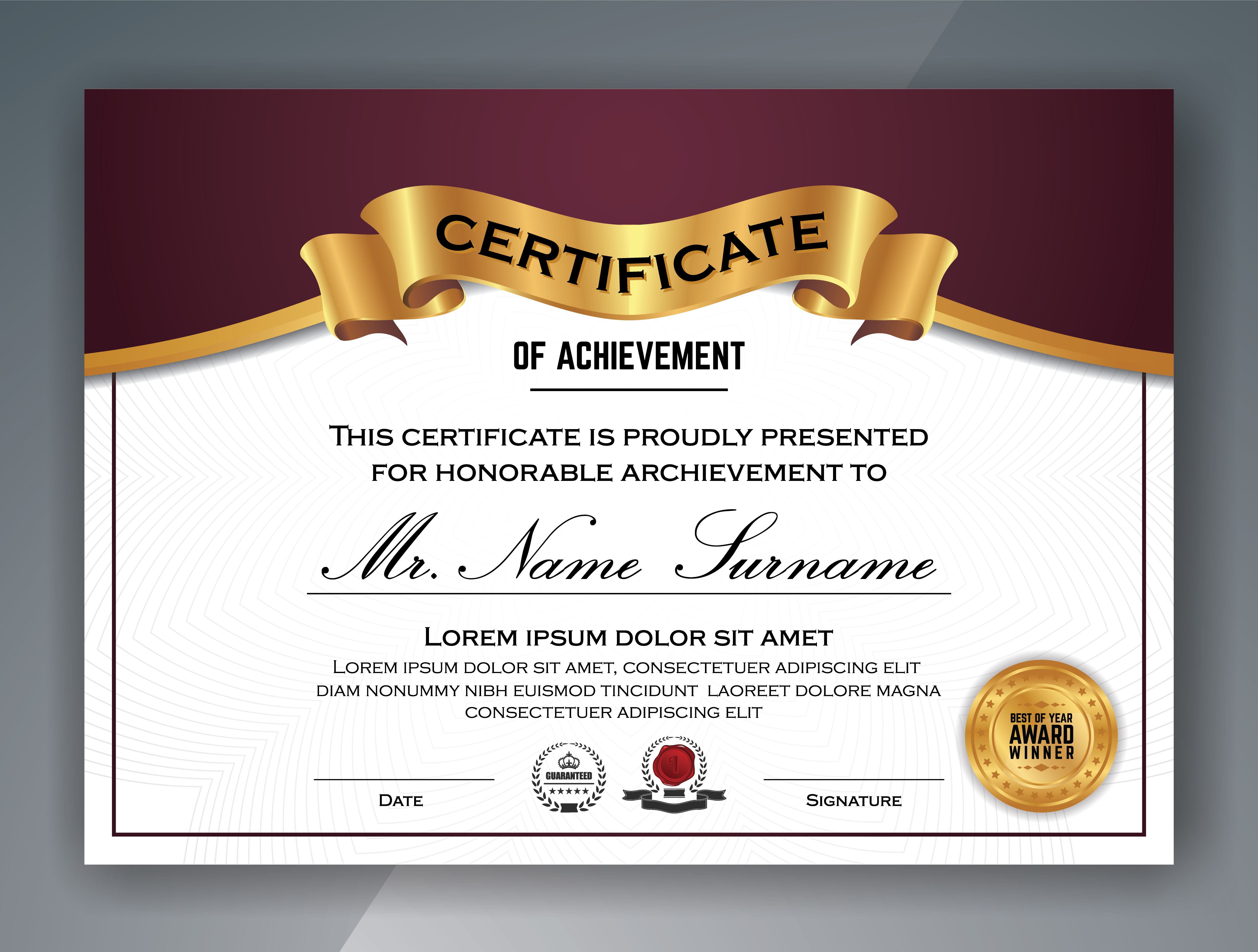 multipurpose professional certificate template design  vector il