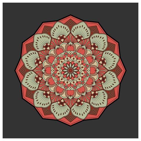 Vintage colorful Mandala with floral ornament. Boho style backgr vector
