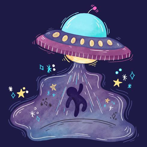 Abdômen bonito do UFO vetor