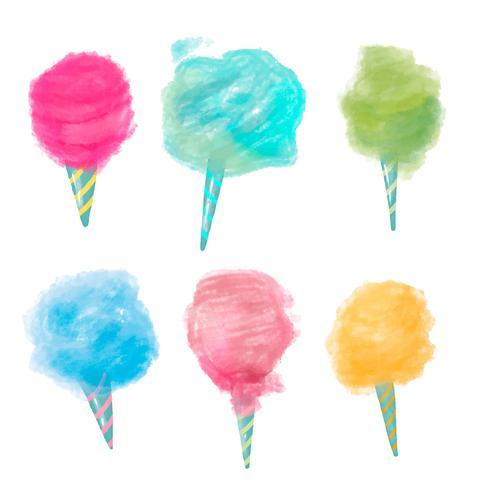Süße Zuckerwatte-Sammlung