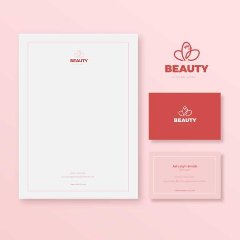 Femenine Pink Brand Stationery