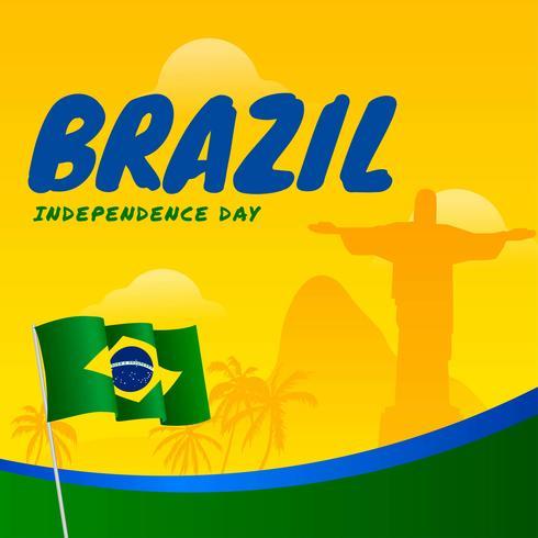 Vecteur de la fête de l'indépendance du Brésil