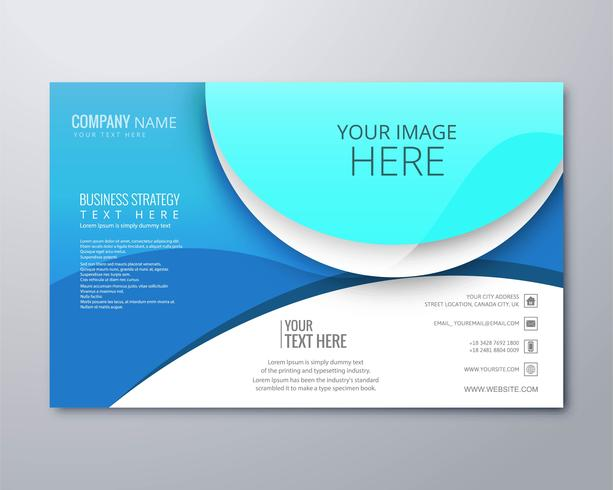 Abstract creative business brochure design template illustration