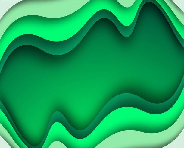 Elegante sfondo elegante onda verde vettore