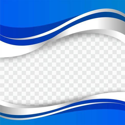 Vettore elegante elegante astratto della priorità bassa dell'onda blu