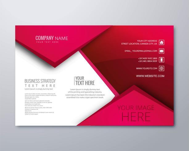 Modèle de brochure d'affaires élégant moderne beau design