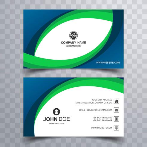 abstract creative business card wave template design download free