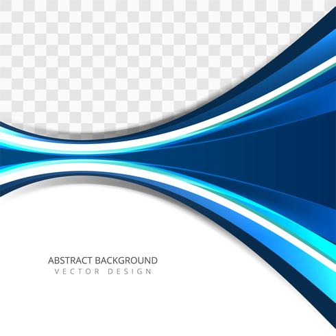 Modern colorful creative blue wave background