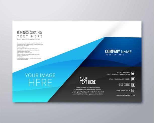 Elegante ilustración de vector de plantilla de folleto de negocios elegante