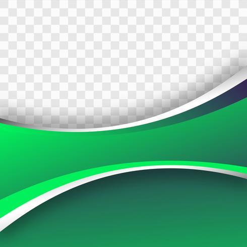Bellissimo sfondo colorato onda verde