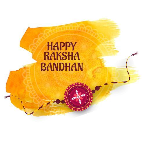 Greeting card design with raksha bandhan festival background vector