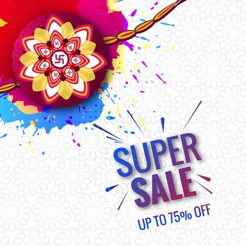 Festival hermoso Raksha Bandhan súper venta concepto colorido ba