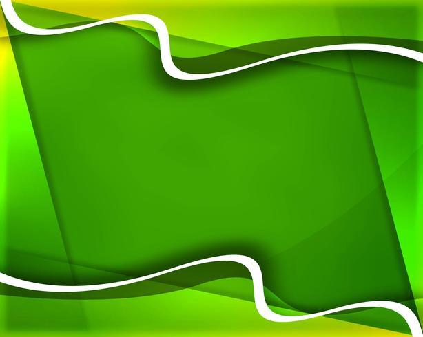 Elegante fondo de onda creativa verde