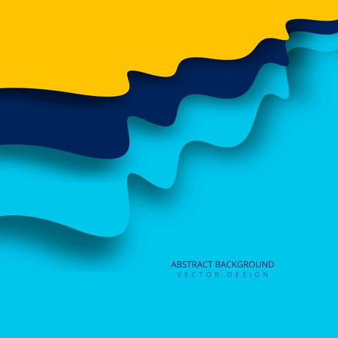 Elegant modern colorful wave background