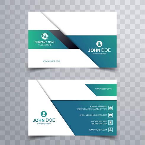 Modern bright business card creative template design