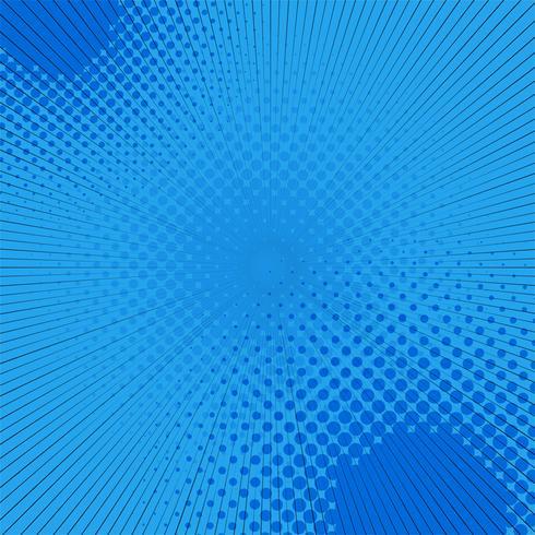 Blauwe halftone pop-art komische achtergrond