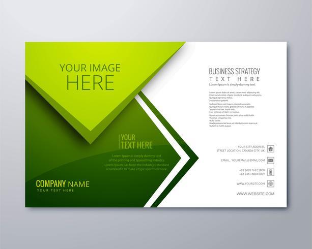 Beautiful green business brochure vector template