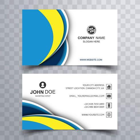 Beautiful elehant colorful wave business card design