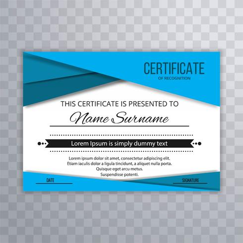 Abstract stylish certificate wave background