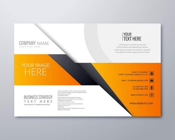 Vector de ilustración de plantilla de folleto comercial creativo moderno