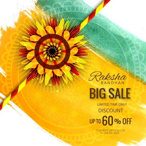 Big sale banner or poster for indian festival of raksha bandhan