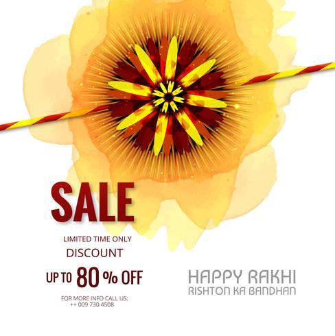Verkoopbanner of affiche voor Indisch festival van raksha bandhan cele