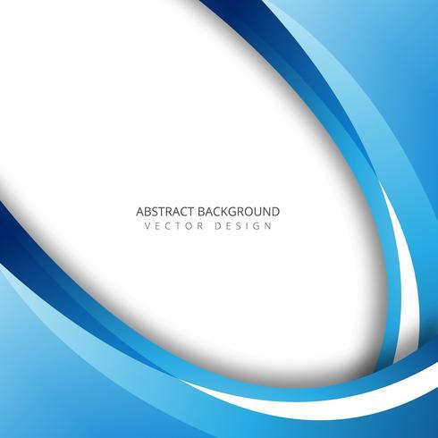Illustration de fond abstrait vague colorée bleue
