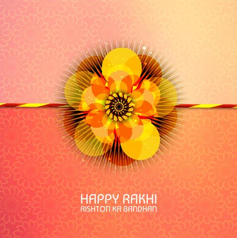 Sammanfattning för Happy Raksha Bandhan med fin och kreativ colorfu