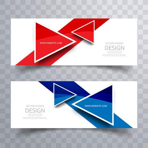 Coloful moderne en-tête set vector design