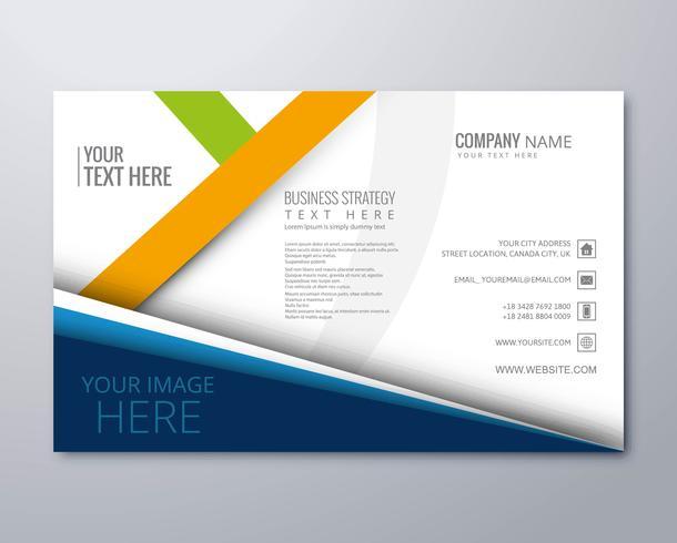 Creatieve zakelijke brochure sjabloonontwerp vector