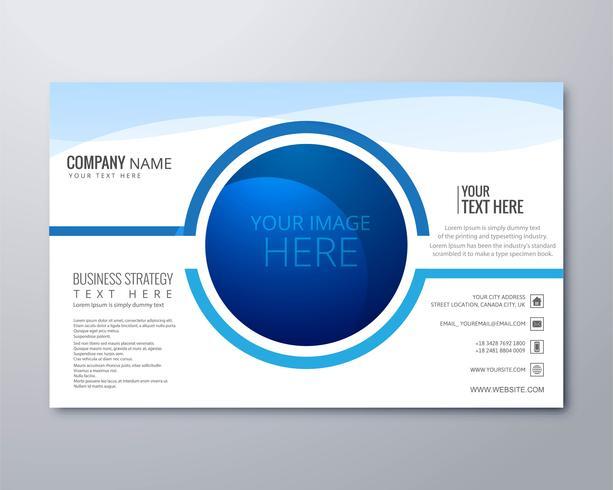 Zakelijke brochure sjabloon vector creatief ontwerp