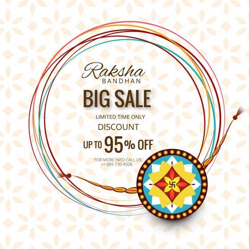 Banner o cartel de gran venta para festival indio de raksha bandhan