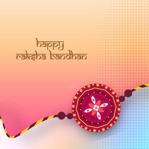 Fondo colorido de la tarjeta de felicitación del festival de Raksha Bandhan