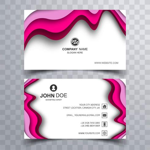 Abstract business card template design illustration
