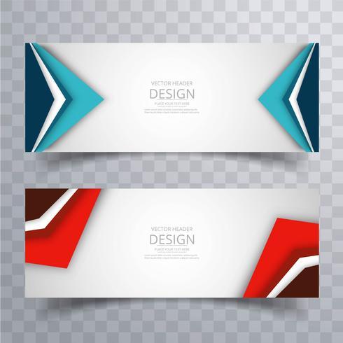 Moderne kleurrijke heldere headers instellen ontwerp