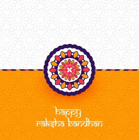 Hermoso Rakhi decorado, elegante vector de diseño de tarjeta de felicitación