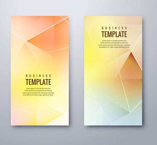 Modern colorful geometric banners set vector